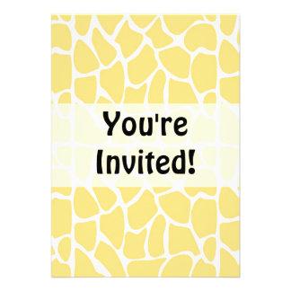 Giraffe Pattern. Yellow. Personalized Announcements