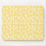 Giraffe Pattern. Yellow. Mouse Pads