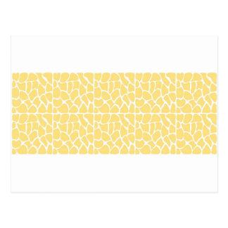 Giraffe Pattern. Yellow. Postcard