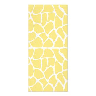 Giraffe Pattern. Yellow. Rack Card