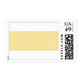Giraffe Pattern. Yellow. Stamps