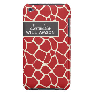Giraffe Pern (cranberry) Barely There iPod Cover
