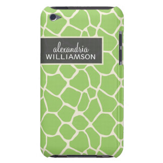 Giraffe Pern (green ) Barely There iPod Cover