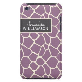 Giraffe Pern (lavender) iPod Touch Case