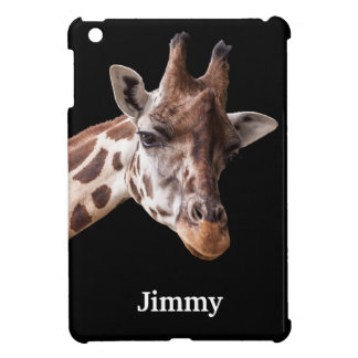 Giraffe - Personalized Name iPad Mini Case
