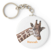 Giraffe - Personalized Name Keychain