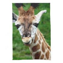 Giraffe Photo  Kitchen Towel