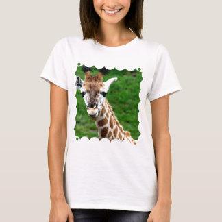 Giraffe Photo Ladies Fitted T-Shirt