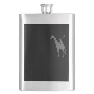 Giraffe polo funny logo tshirt 2 flask