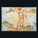 "Giraffe Portrait Animal Picture Cloth Placemat<br><div class=""desc"">This is a beautiful custom giraffe portrait that makes the perfect gift.</div>"