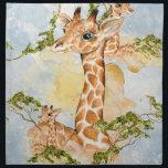 "Giraffe Portrait Animal Picture Napkin<br><div class=""desc"">This is a beautiful custom giraffe portrait that makes the perfect gift.</div>"