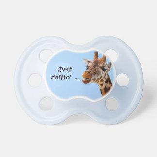 Giraffe Portrait custom text pacifier