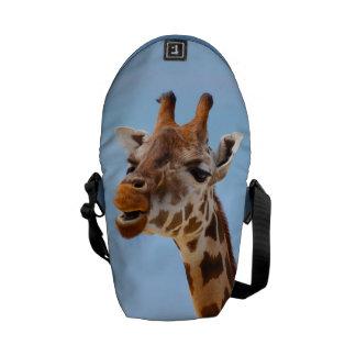 Giraffe Portrait messenger bag