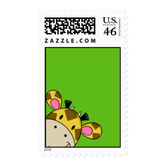 Giraffe Postage Stamp