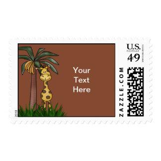Giraffe Postage Stamps