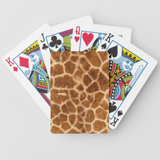 Giraffe Print Bicycle Playing Cards
