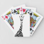Giraffe Print Bicycle Poker Deck