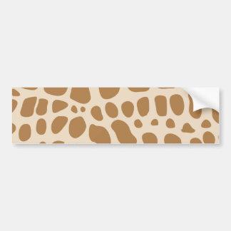 Giraffe Print Bumper Sticker