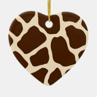 Giraffe Print Ceramic Ornament