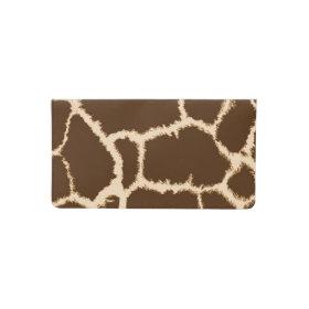 Giraffe Print Checkbook Cover