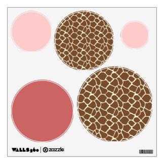 Giraffe Print Circle Dots Room Stickers