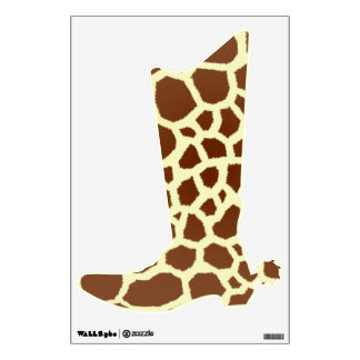 Giraffe Print Cowboy Boot Wall Decal