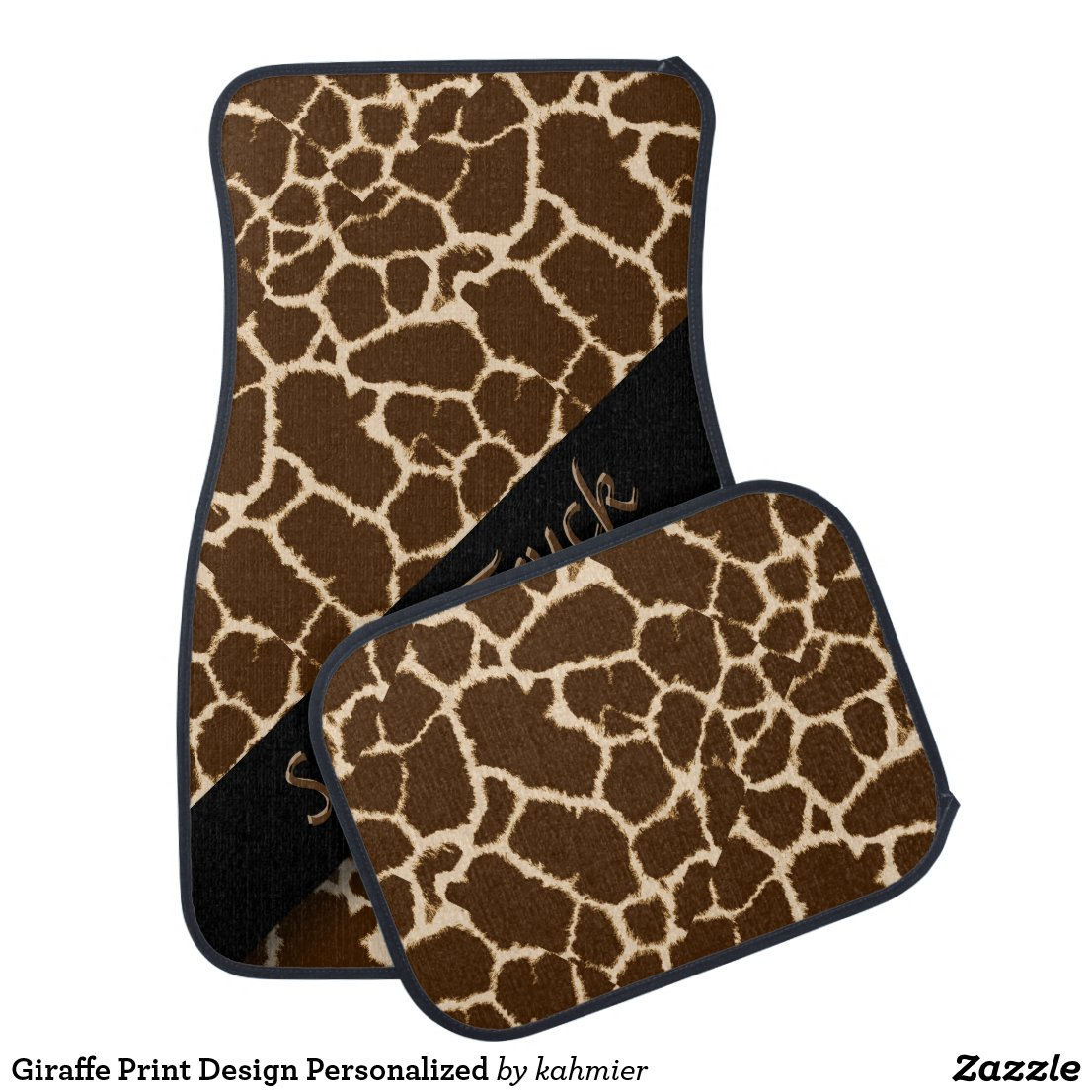 Giraffe Print Design Personalized Car Mat