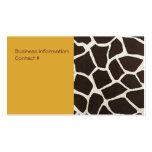 Giraffe Print Elegant Business Card