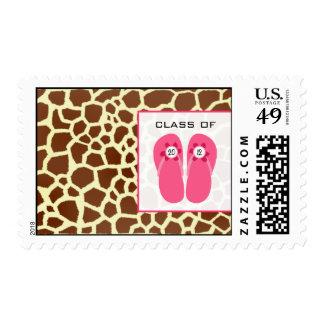 Giraffe Print & Flip Flops Class of 2012 Stamps
