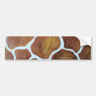 Giraffe Print from original oil painting Bumper Sticker