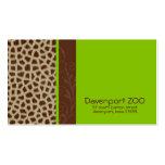 Giraffe Print [green] Business Cards