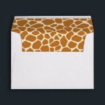 "Giraffe Print Greeting Card Envelope<br><div class=""desc"">giraffe spots print pattern zoo animal cute kawaii animal cartoon safari africa kids</div>"