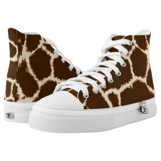 Giraffe Print High-Top Sneakers