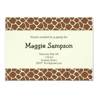 Giraffe Print Invitation  (#INV 025)