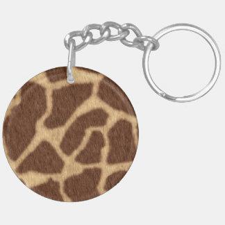 Giraffe Print Keychain