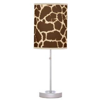 Giraffe Print Lamps