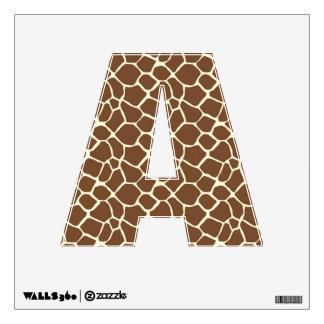 Giraffe Print Letter A Wall Graphic