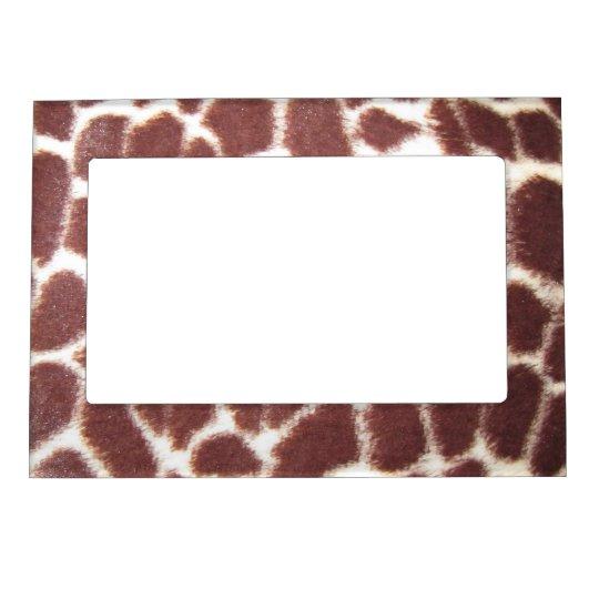 Giraffe Print Magnetic Frame