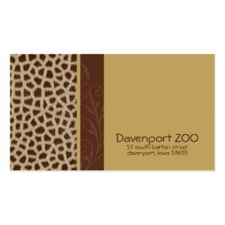 Giraffe Print [natural] Business Cards