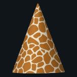 "Giraffe Print Party Hat<br><div class=""desc"">giraffe spots pattern print wild africa zoo animal animal cartoon safari background skin fur</div>"