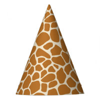Giraffe Print Party Hat