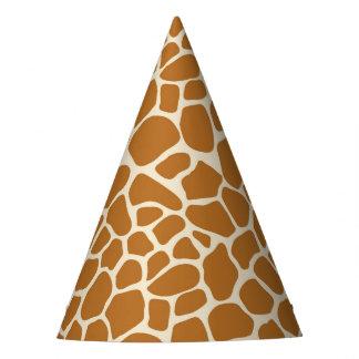 Giraffe Print Party Hat