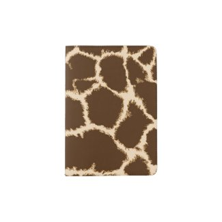 Giraffe Print Passport Holder
