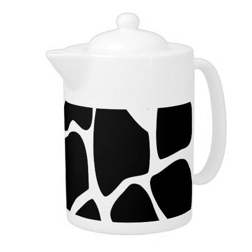 Giraffe Print Pattern. Animal Print Design, Black.