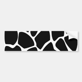 Giraffe Print Pattern. Animal Print Design, Black Bumper Sticker