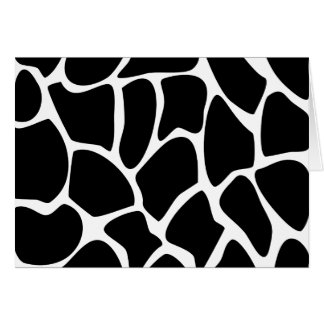 Giraffe Print Pattern. Animal Print Design, Black Card