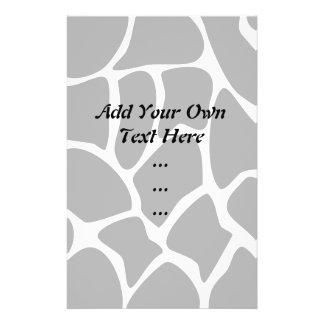 Giraffe Print Pattern. Animal Print Design, Black Full Color Flyer