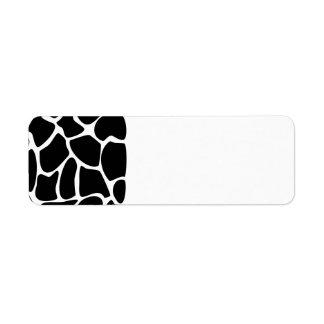Giraffe Print Pattern. Animal Print Design, Black Label