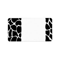 Giraffe Print Pattern. Animal Print Design, Black Label