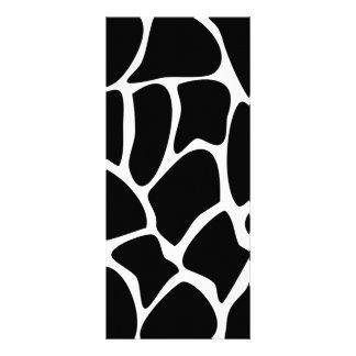 Giraffe Print Pattern. Animal Print Design, Black Custom Rack Cards